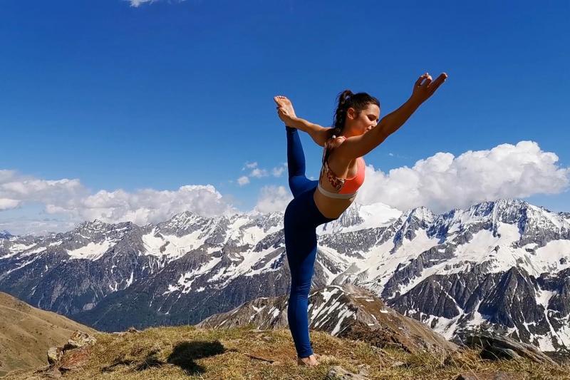 Yoga al passo del Tonale